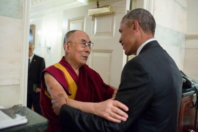 Dalai Lama et Barack Obama